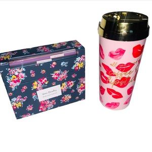 Vera Bradley Occassion card set & coffee thermal